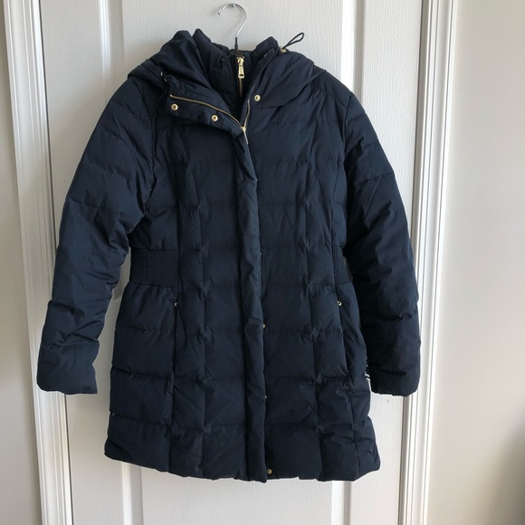 Cole Haan Hooded Puffer Coat - Navy - Large